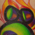 tattoos/ - Bass Cleff With Flames - 23927